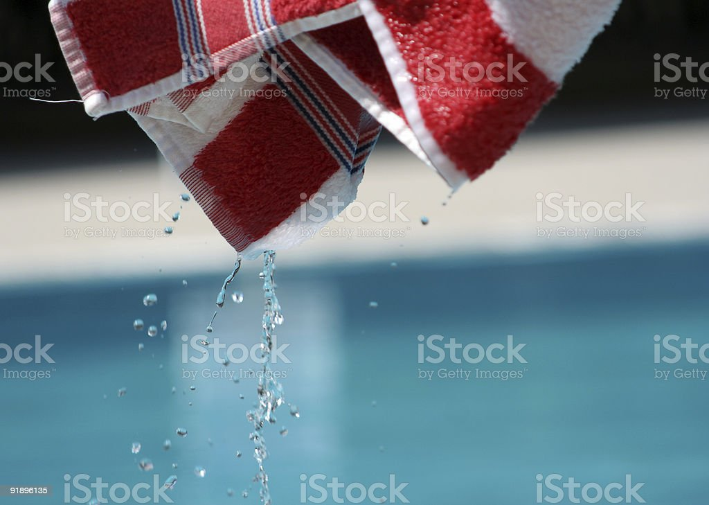 wet towel royalty-free stock photo