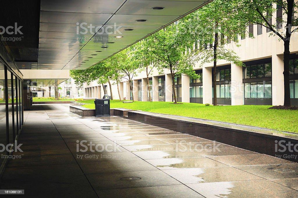 Wet Urban Background royalty-free stock photo