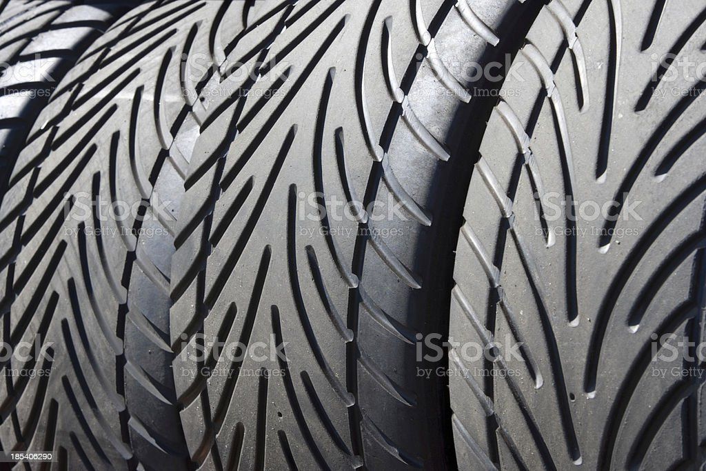 Wet weather racing tires royalty-free stock photo
