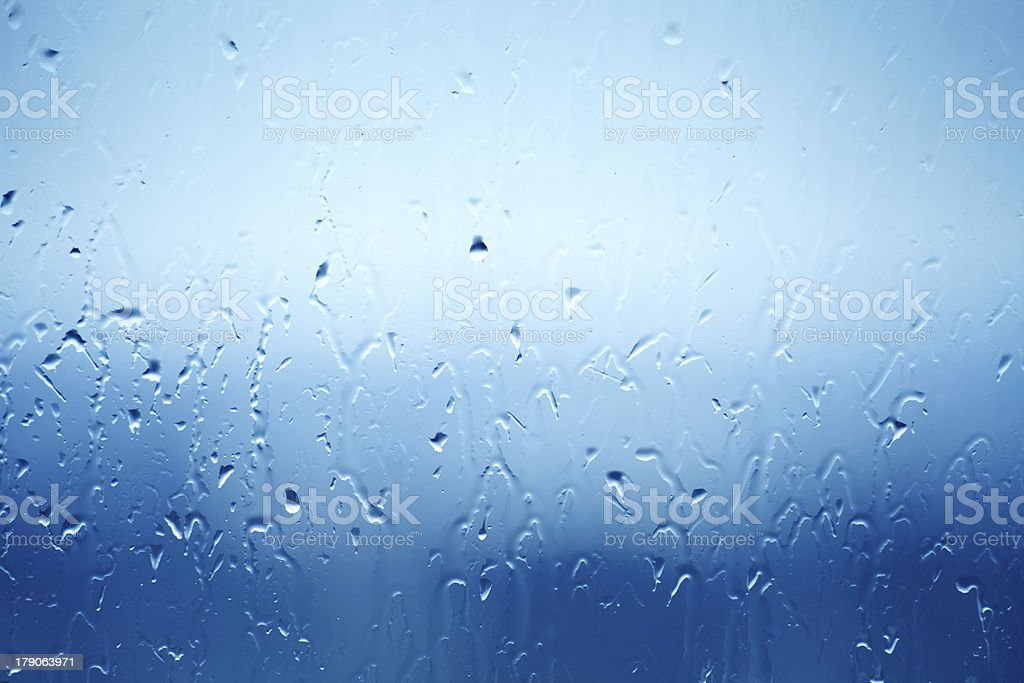 Wet window glass royalty-free stock photo