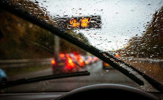 Wet winter journey home