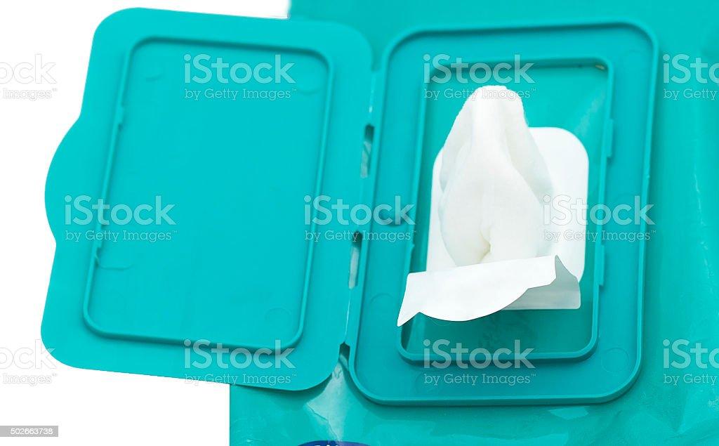 wet wipe stock photo