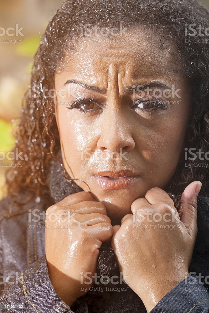 Wet woman stock photo