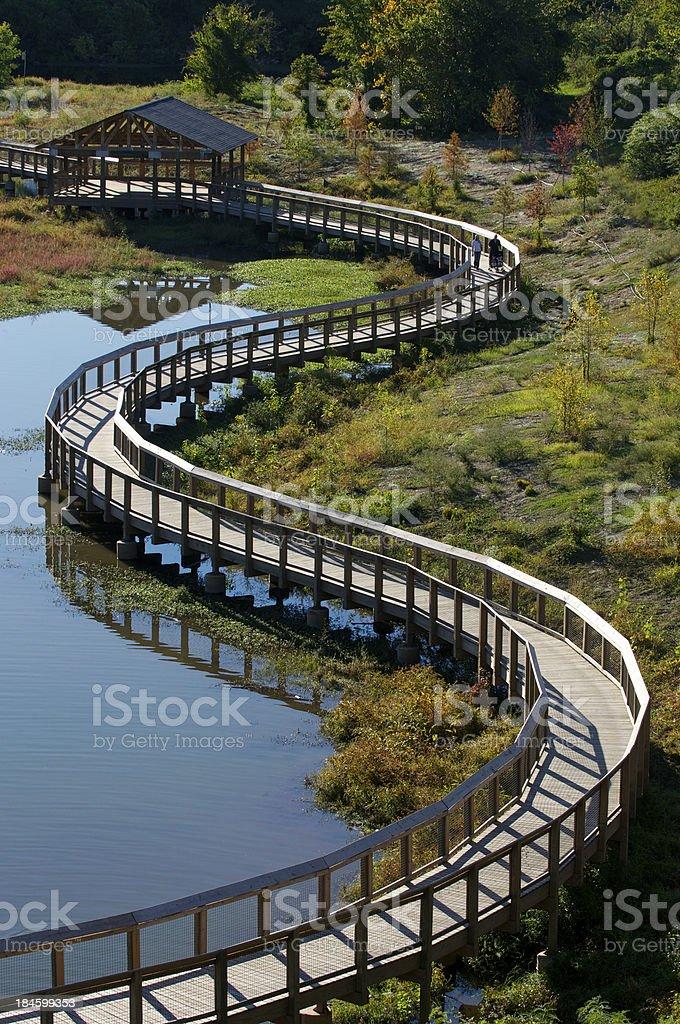 Wetlands Pedestrian Walkway stock photo