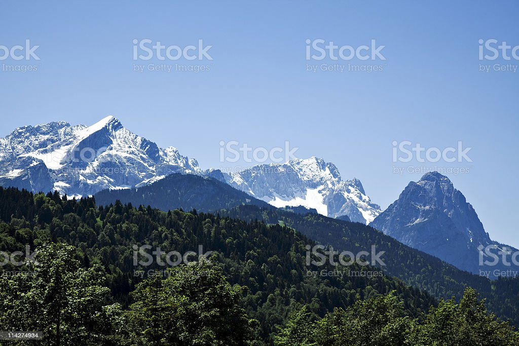 Wetterstein mountain range stock photo