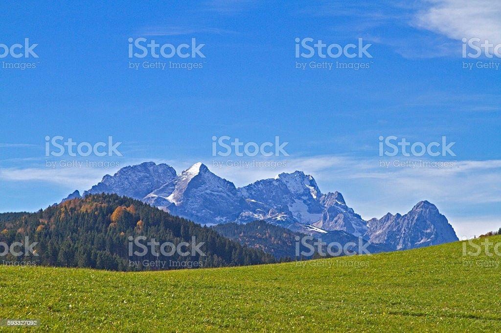 Wetterstein mountains in Bavaria stock photo