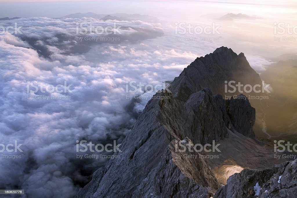 Wetterstein mountains royalty-free stock photo