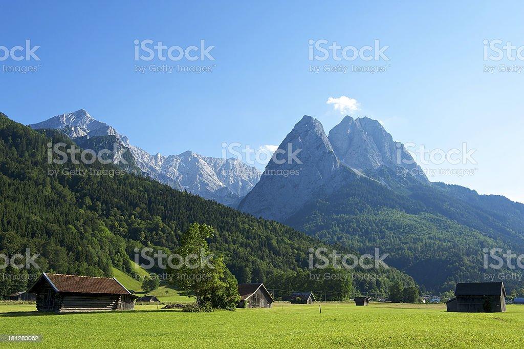 Wetterstein mountains royalty-free stock photo