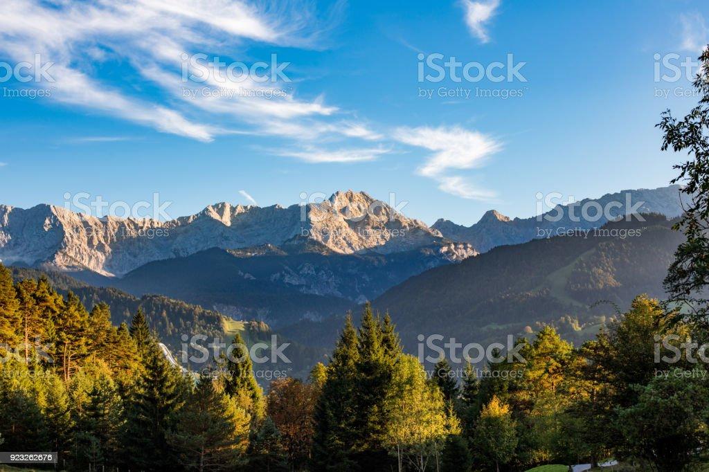 Wettersteingebirge near Garmisch-Partenkirchen, Upper Bavaria, Germany stock photo
