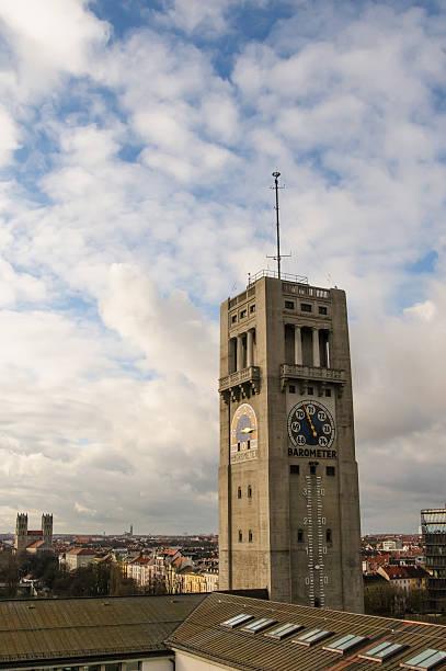 wetterturm - münchen weather stock-fotos und bilder