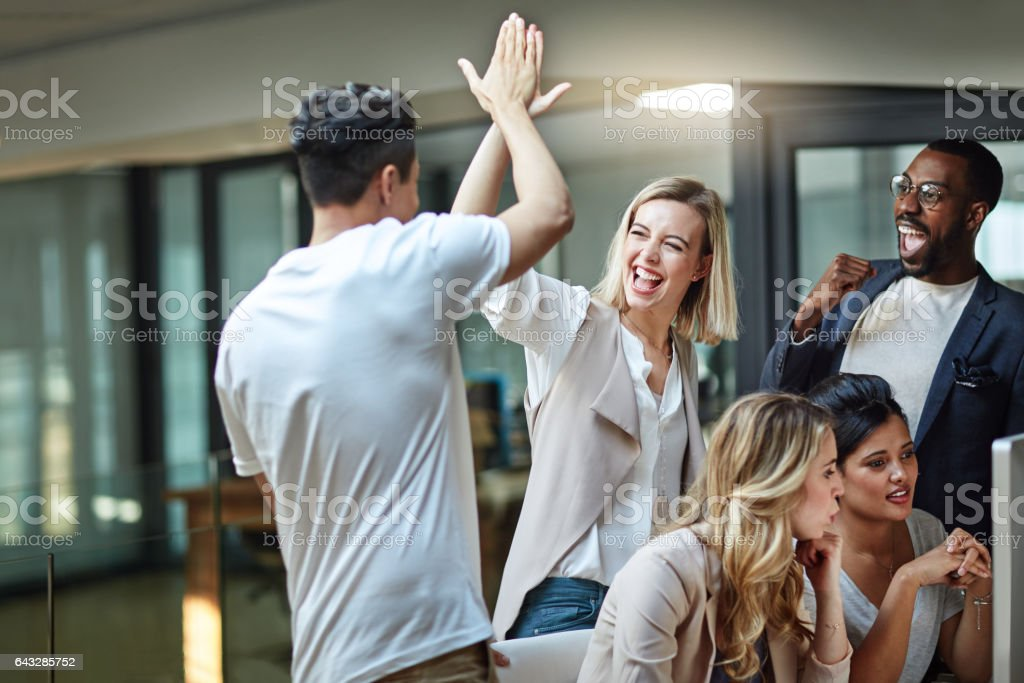 We've done it again! stock photo