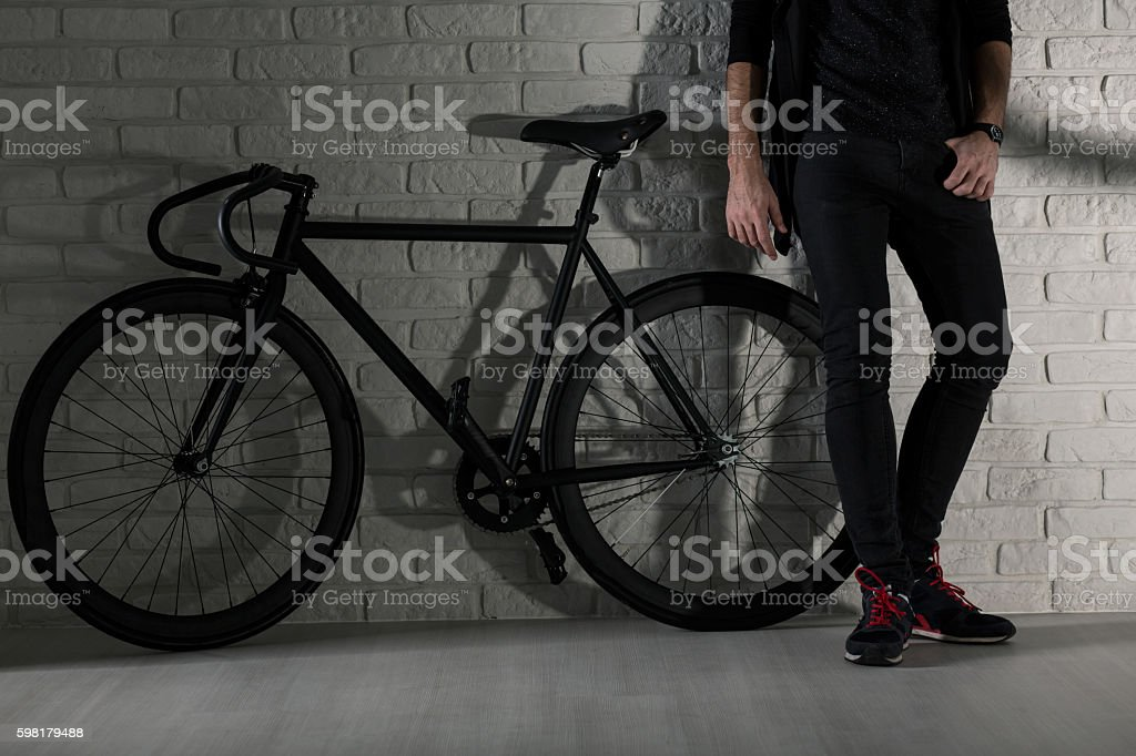 We've got style: me and my bike foto royalty-free