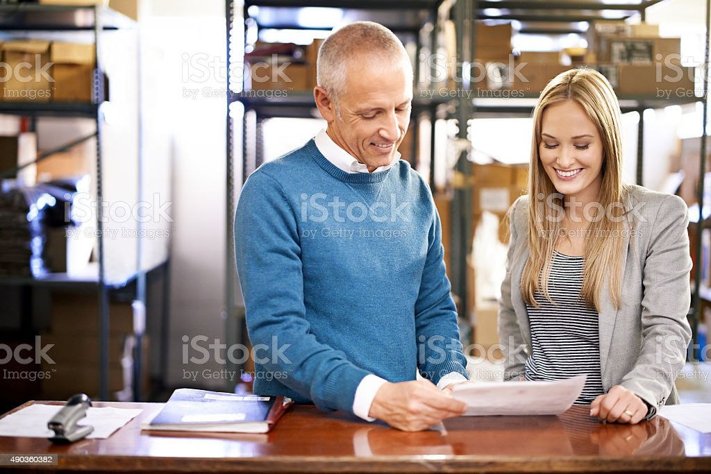 We've moved a lot of orders today stock photo