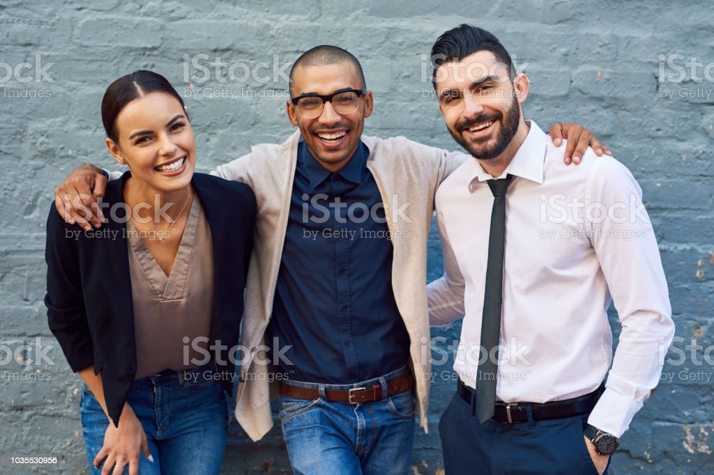We've only ever achieved great things together stock photo