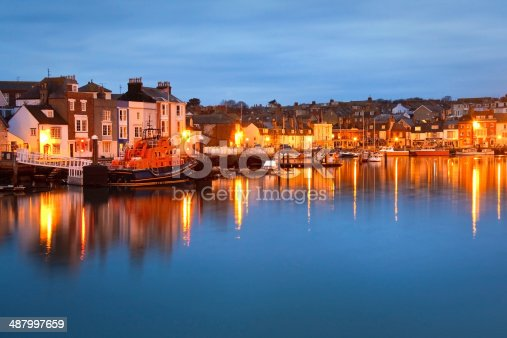 istock Weymouth harbor in Dorset. 487997659