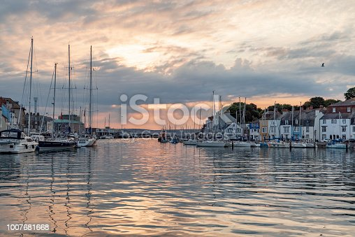 istock Weymouth Harbour at dawn 1007681668