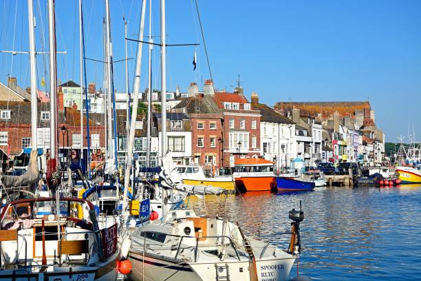 weymouth harbour. - weymouth stock photos and pictures