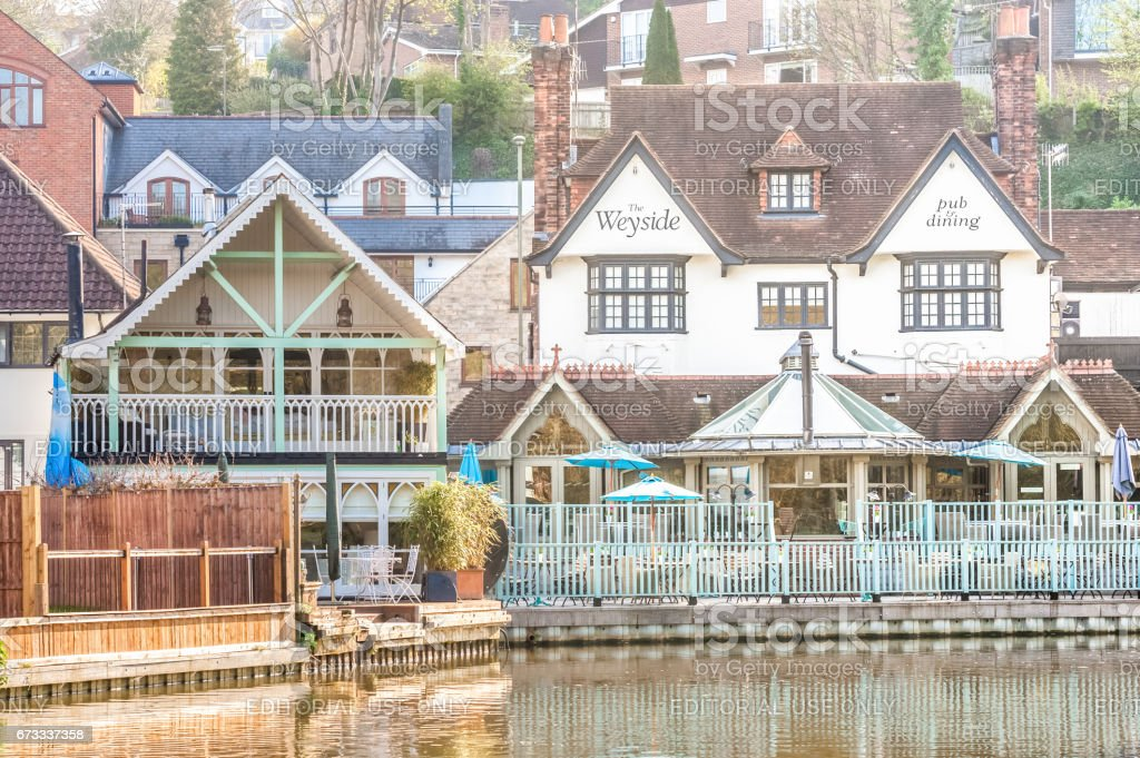 Weyside restaurant in Guildford stock photo
