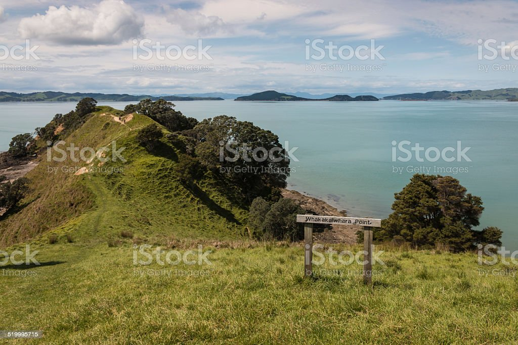 Whakakaiwhara Point in Duder Regional Park stock photo
