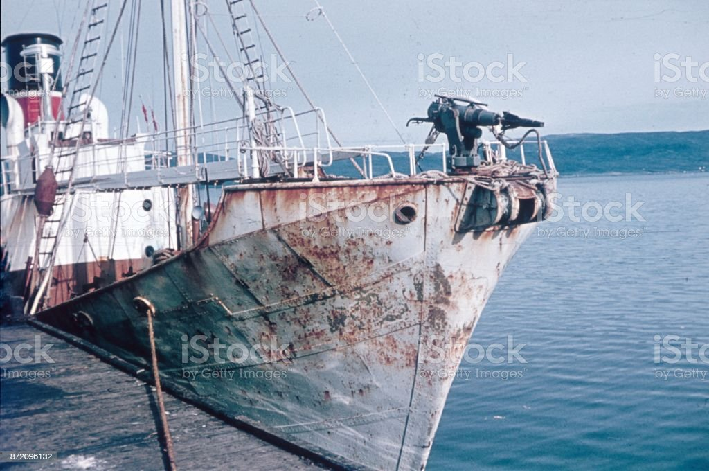 Whale  boat, Norway,1966 stock photo