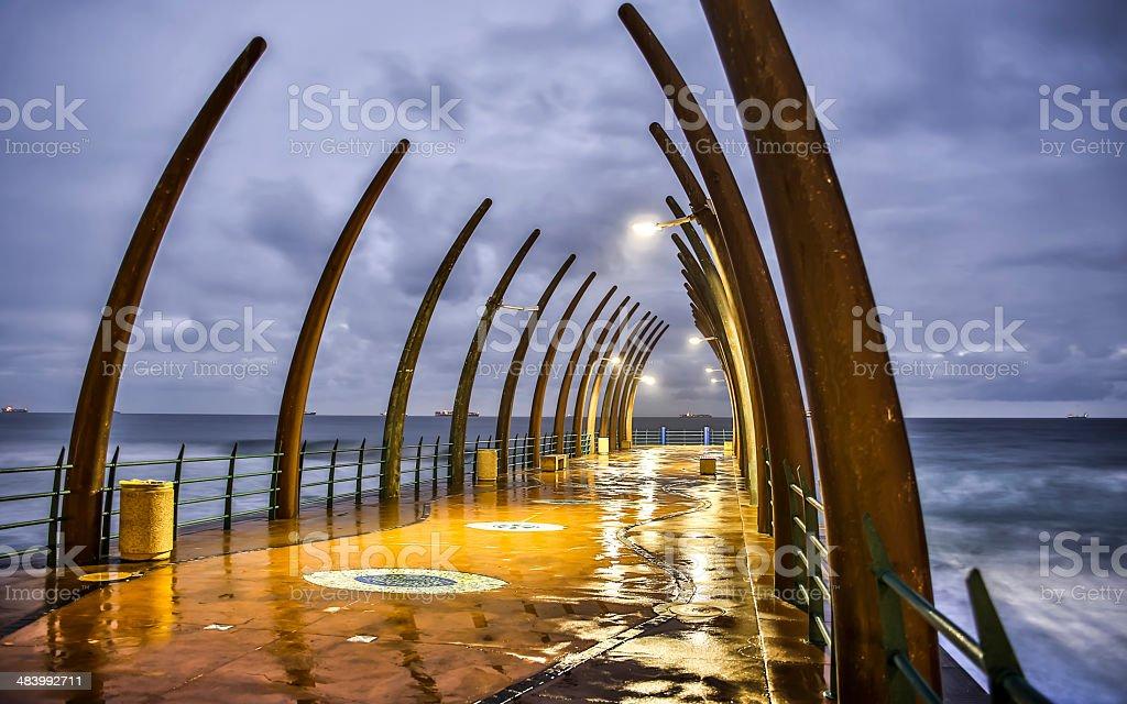 Whale Bone pier stock photo