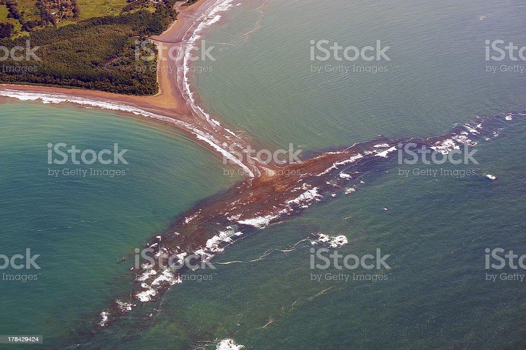 Whale tail, Corcovado, Costa Rica stock photo