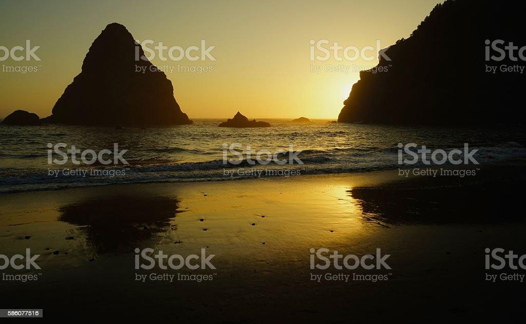 Whale's Head Beach stock photo