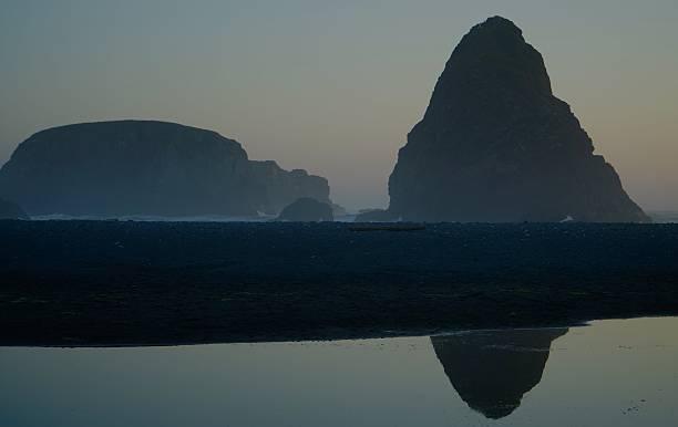 Whale's Head Sunset stock photo