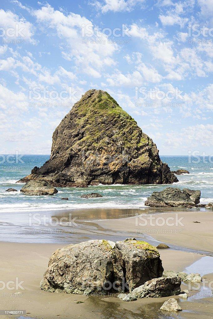 Whaleshead Island on The Oregon Coast stock photo