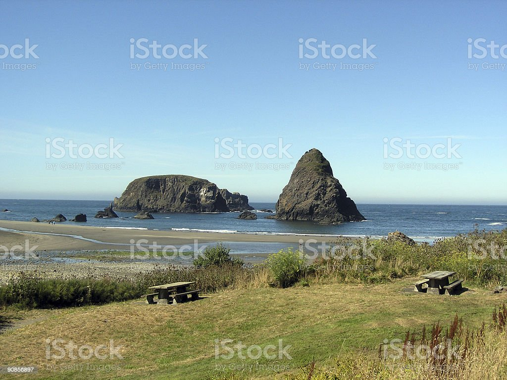 Whaleshead Picnic stock photo