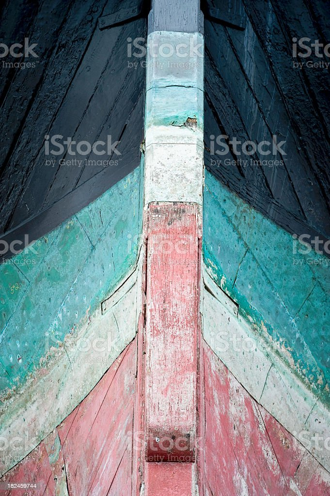 Whaling barco en dique seco foto de stock libre de derechos