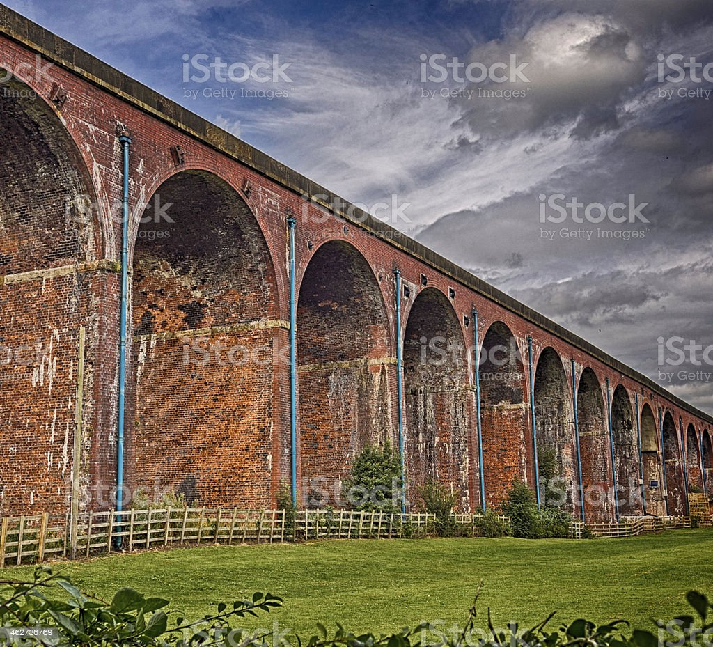 Whalley viaduct stock photo