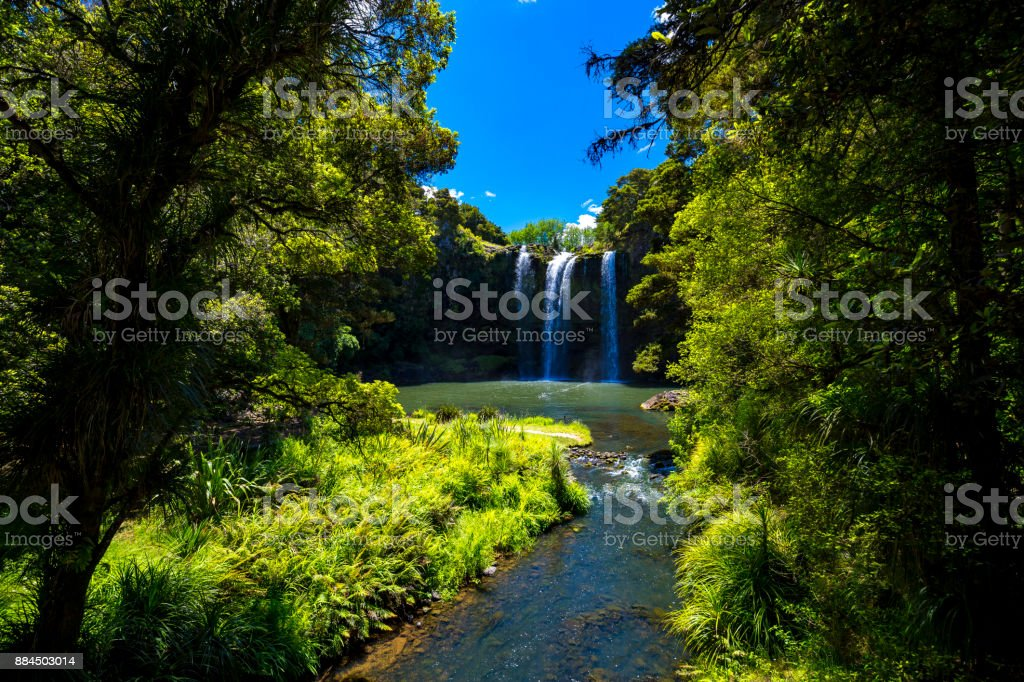 Whangarei Falls stock photo