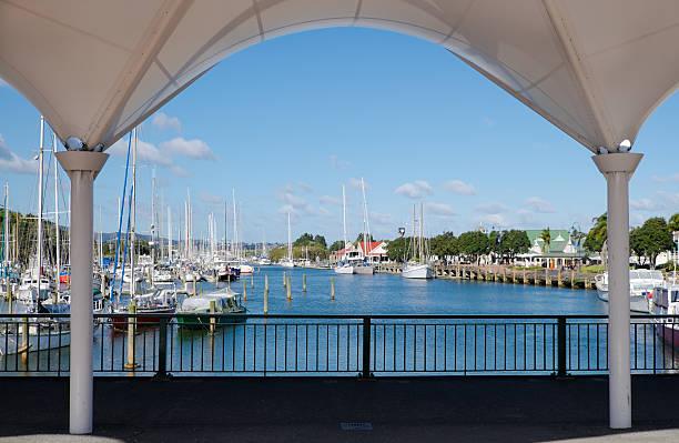 Whangarei town basin and marina stock photo