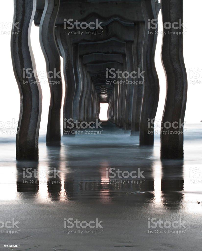 Wharf surreal stock photo