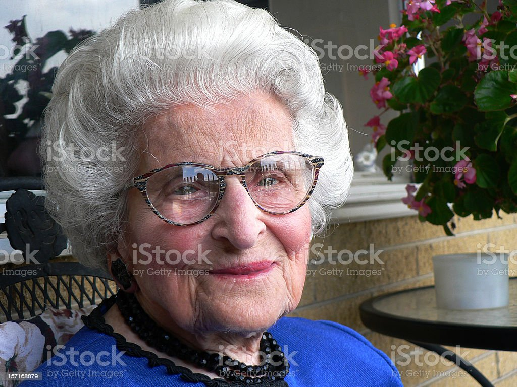 What 105 Years Old Looks Like stock photo