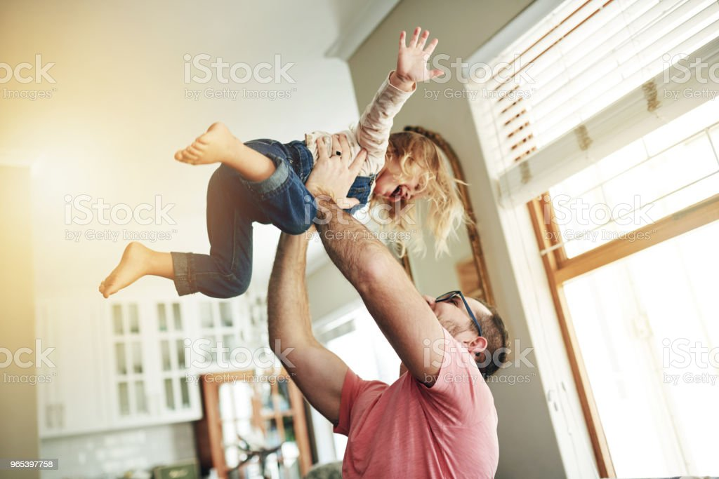 What a dedicated and devoted dad royalty-free stock photo