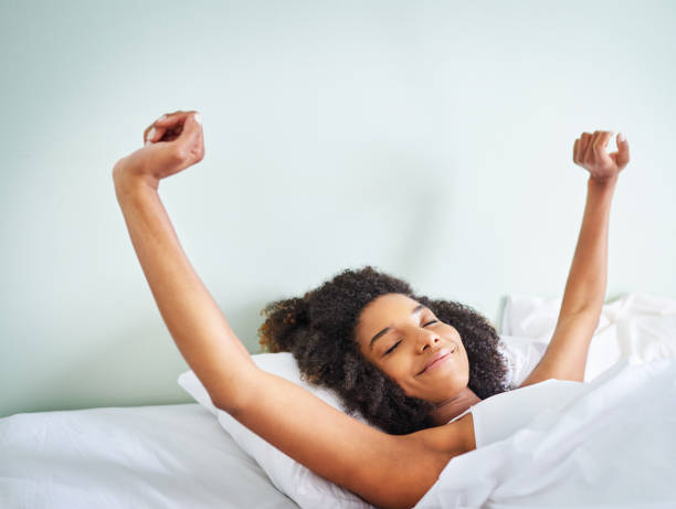 What a good night of rest stock photo