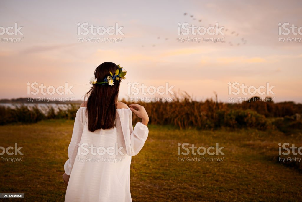 What a great place to clear your mind stock photo