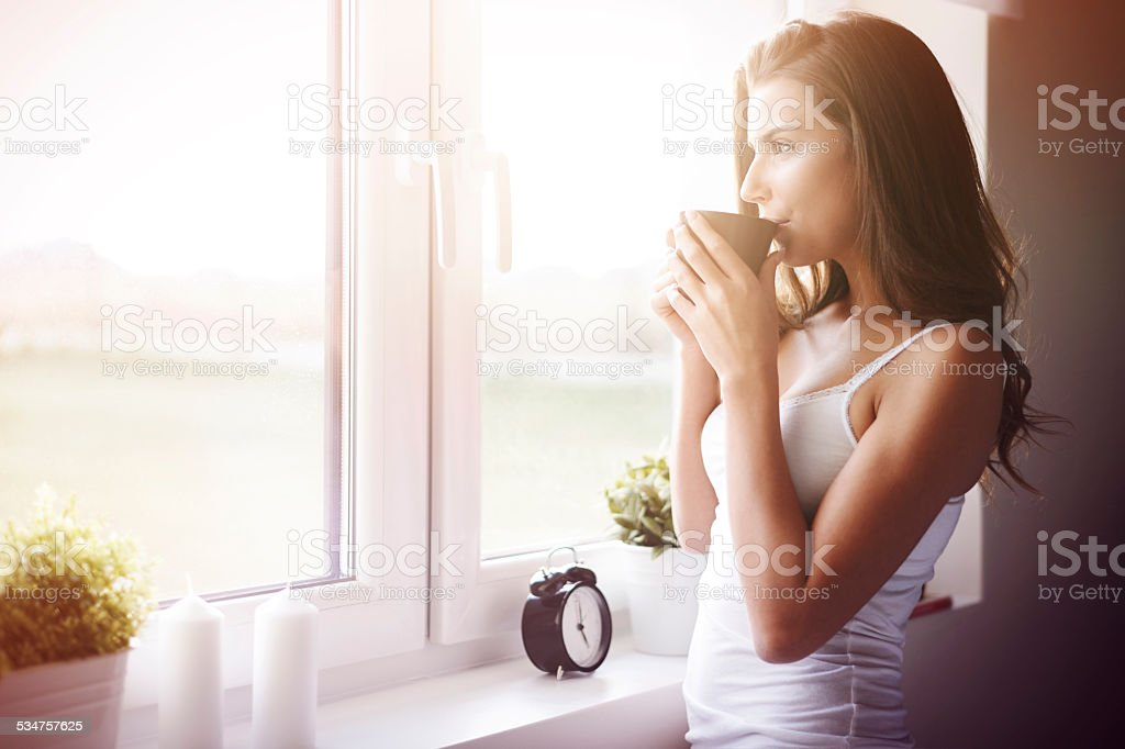 What a great way to wake up! stock photo