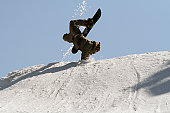 Snowboard jumping at its finest.