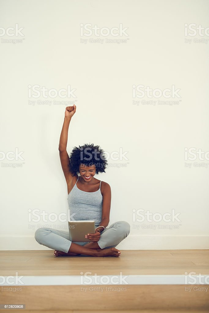 What a success! stock photo