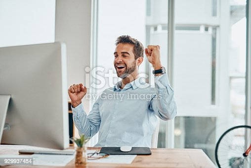 istock What a victory! 929937484