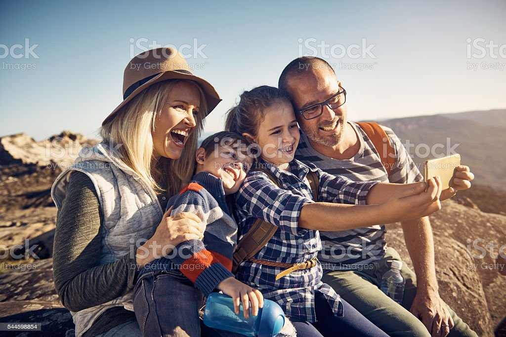 What a wonderful way to make memories as a family stock photo