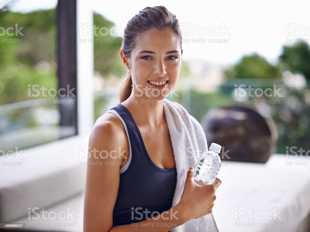 What a wonderful workout stock photo