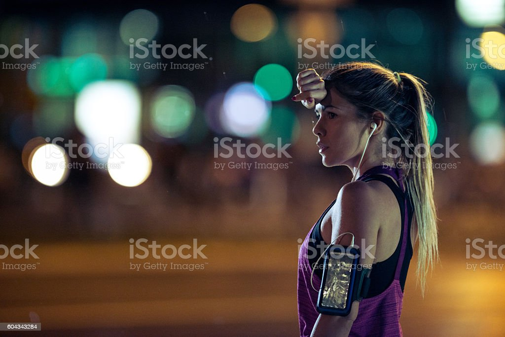 What a workout! stock photo