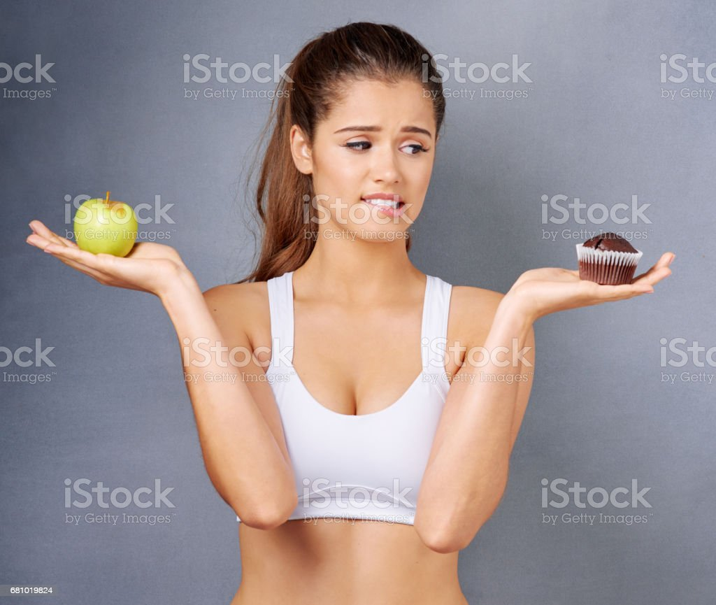 What about a bite of each then? stock photo