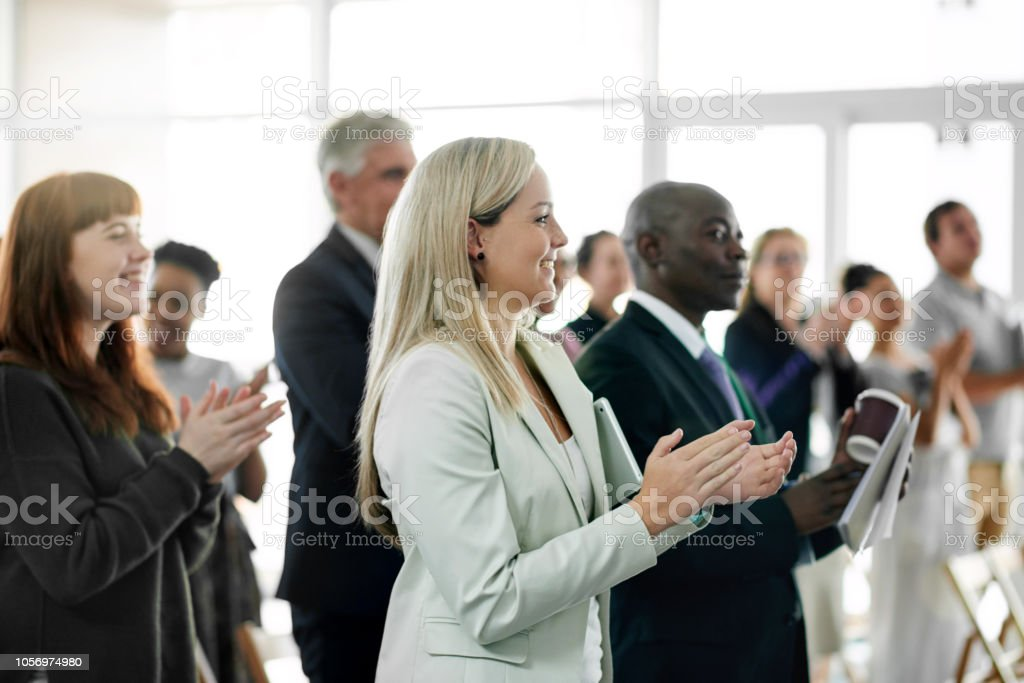 What an unforgettable seminar stock photo