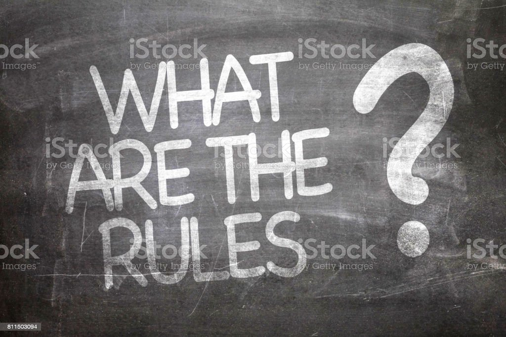 What Are The Rules? stock photo