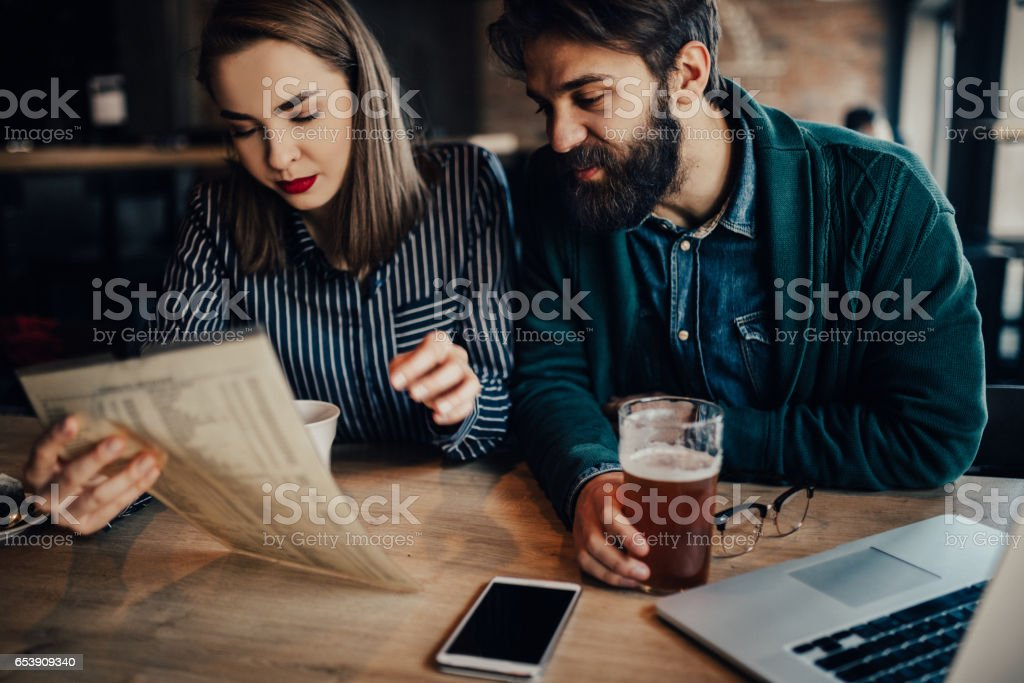 What are we going to order? stock photo